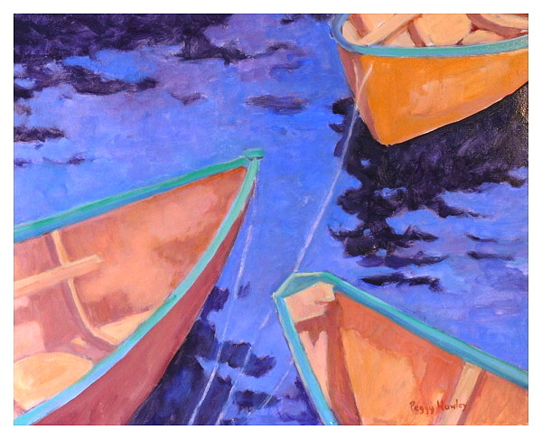 Peggy Hawley Studio Boat Paintings Quot Yellow Bows Quot